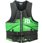 race for life vest top - Mens NEOPRENE Life Jacket Fly Racing Safety Vest Full Zip w Buckles Black Green
