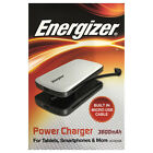 Energizer 3600mAh Rechargeable Power Pack with Built-In Micro USB Cable