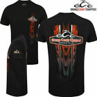 Orange County Choppers Mens Vertical Flame T Shirt Official OCC Motorbike Bike