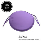 New Round Colourful Removable Chair Cushion Seat Pads With Ties Home Garden UK