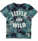Name it Jungen T-Shirt NMMGAJUNGLE kurzarm Biobaumwolle vintage indigo