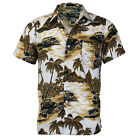 Men's Hawaiian Tropical Luau Aloha Beach Party Button Up Casual Dress Shirt