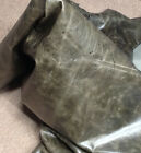 BR722 Leather Cow Hide Cowhide Upholstery Craft Fabric Very Distressed Gray