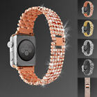 Luxury Bling Crystal Diamond Aluminum Wrist Band For Apple Watch iWatch 38/42 mm image