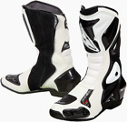 Prexport Sonic Evo White Leather Race Sport Motorcycle Boots New RRP £139.99!!!