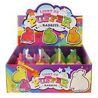 Light Up Flashing Puffer Rabbit Squidgy Sensory Toy Party Bag 13cm. 6 Colours