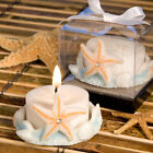 30-180 Starfish Design Candle - Lido Themed Wedding Shower Party Favors