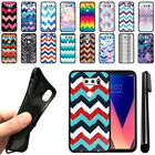 "For LG V30 V30+ Plus 6"" VS996 H932 US998 Chevron TPU SILICONE Case Cover + Pen"