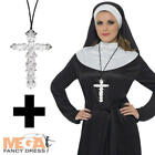 Nun Ladies Fancy Dress Hen Party Saints Sinners Religious Womens Costume + Cross