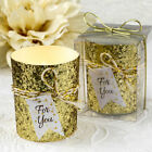 25-70 Gold Beaded Bling Votive Candle - Wedding Party Favors