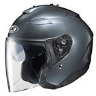 HJC IS-33 II Open Face Helmet Dark Anthracite Silver