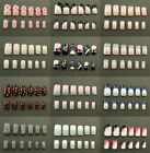 24 pieces of Pre-designed Whole nails (French Style) - Full Nails