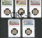 2017 S QUARTER SET From 225th Ann. Set FIRST RELEASES NGC SP70 ENHANCED FINISH