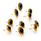 5 Pairs Women Party Club Pub Jewelry Round Sunflower Stud Earrings Set Dreamed