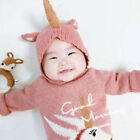 Unicorn Winter Baby Beanie Hat Kids Boys Girls Toddler Knitted Warm Cap