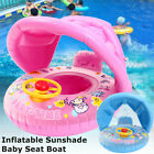 Baby Kids Safety Swimming Ring Inflatable Beach Pool Swim Float Sunshade Seat