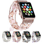 For Apple Watch iWatch Bling Agate Beads Strap Bracelet Band 3/2/1 42mm/38mm US image