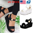 ladies shoes - US Women Wedge Heels Ladies Summer Platform Sandals Open Toe Chunky Shoes Size