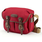 Billingham Hadley Small Camera Bag in Burgundy Canvas/Chocolate Leather