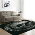 Punk 3D Skull Memory Foam Mat Doormat Carpet Home Decor Living Room Area Rugs