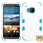 TUFF Hybrid Phone Protector Cover [Military-Grade Certified] for HTC One M9