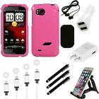 For HTC Rezound Rigid Plastic Hard Snap-On Case Phone Cover Charger