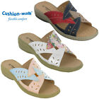 Cushion-Walk Slip On Summer Sandals Wedge Open Toe Comfort Lightweight Ladies