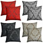 "Set of 2 Downtown Cushion Covers Velvet Flock Filigree Cover Pairs 18"" x 18"""