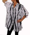 WeBeBop ChaiLatte BeBop White Crinkle Cotton COOL Tunic 0X 2X 5X