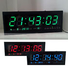 Digital Large Big Jumbo LED Wall Desk Clock With Calendar Temperature 48cm
