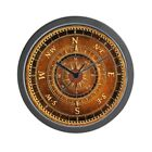 CafePress - Compass Rose In Brown - Unique Decorative 10 Wall Clock