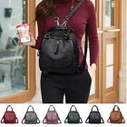 Women High-end Multifunction Backpack + Handbag Leather Double Layer Travel Bag