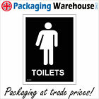 GE419 TOILETS MALE FEMALE SIGN DOOR PLAQUE WHICHEVER BATHROOM CLOSET LOO WC