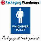 GE427 WHICHEVER TOILET SIGN PUBLIC CONVENIENCE LOO WC JOHN MENS ROOM CLOSET