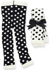 Mud Pie Baby FUZZY DOT LEGGINGS Black or White 167295 Diva Collection 0-6 months