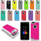 For ZTE Blade Z Max Z982 Sequoia Colorful Anti Shock Sparkle HYBRID Case Cover