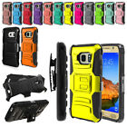 For Samsung Galaxy S7 ACTIVE G891 Color Hybrid Heavy Stand Holster Case Cover