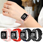 For Fitbit Versa!Contrast Color Sports Watchband Wrist Strap Bangle+Metal Buckle