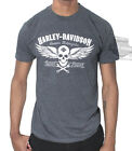 Harley-Davidson Mens Winged Skull B&S Graphite Heather Short Sleeve T-Shirt $9.99 USD on eBay