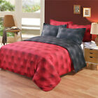 3D Button Bed Clothes Bed Linen Set Comforter Duvet Cover Red Bedding Set King