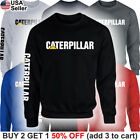 Caterpillar Sweater Sweatshirt Shirt CAT Tractor Construction Equipment Men