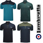 Lambretta Polo Shirt Twin Tipped Sleeve 1/2 Zip Cycling Shirt Mens SS3977 S-4XL