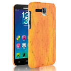 For Lenovo A8 A806 A808 Gold Warrior Wood Texture PU Coated hard case cover