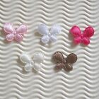 "150 pc x 1"" Mix Padded Plain Satin Butterfly Appliques for Hair Bow/Card ST173"
