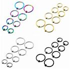 16G Steel Captive Bead Tragus Helix Cartilage Hoop Rings Body Piercing Earrings