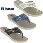 Womens Soft Flip Flop Sandals Inblu Toe Post Jewelled Cushioned Soft Beach Flats