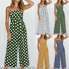 Women Ladies Polka Dot Summer Pinaforesuit Romper Playsuit Party Clubwear