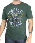Harley-Davidson Mens Engine Mineral Wash Raw Edge Green Short Sleeve T-Shirt $9.99 USD on eBay