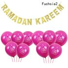 "RAMADAN KAREEM Bunting Banner +10"" Moon Latex Balloons EID MUBARAK Party Decor"