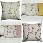 "Hemsworth Cushion Cover Luxury Floral Blossom Cushion Covers 17"" x 17"""